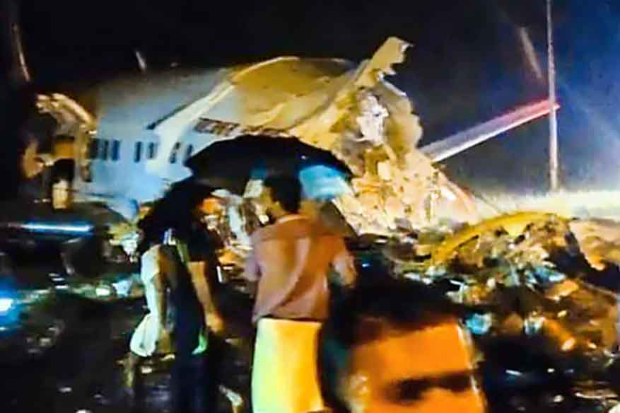 Air India Express plane breaks into two after landing in Kerala, at least two feared dead